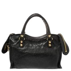 Balenciaga Black Leather Mini Classic City Bag