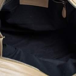 Balenciaga Beige Leather Giant 21 Motorcycle City Bag