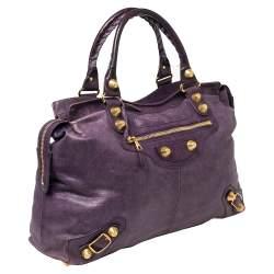 Balenciaga Raisin Leather GGH RTT Bag