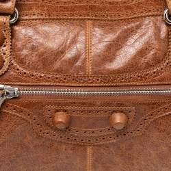 Balenciaga Automne Leather Brogue CGH Work Tote