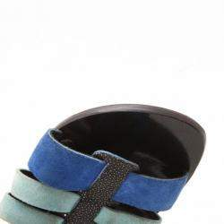Balenciaga Light Blue Suede and Stingray Sandals Size 37.5