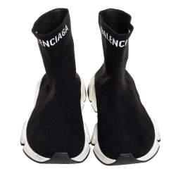 Balenciaga Black Knit Fabric Speed Sock Sneakers Size 40
