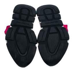 حذاء رياضي بالنسياغا سبيد ترينر قماش تريكو وردي بعنق مرتفع مقاس 37