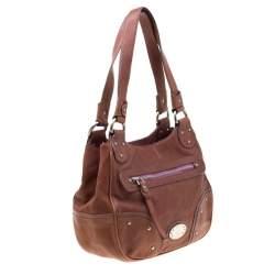 Bally Tan Leather Zippered Pocket Hobo