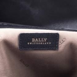 Bally Black Leather Top Handle Bag