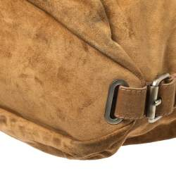 Bally Brown Suede and Leather Shopper Tote
