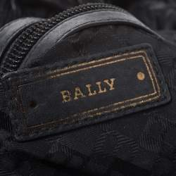 Bally Black Pleated Leather Hobo