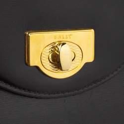 Bally Black Leather Vintage Top Handle Bag