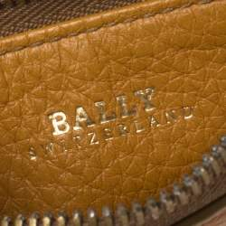 Bally Yellow Leather Zip Card Holder