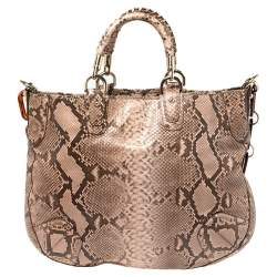Bally Dusty Pink/Black Python Jana Shoulder Bag