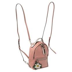 Bally Old Rose Pink Leather Extra Small Backpack