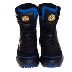 Puma x Balmain Black Leather Cell Stellar Mid Sneakers Size 38.5
