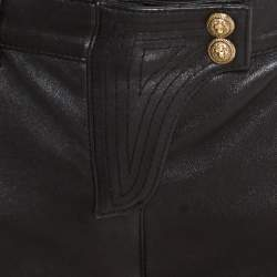 Balmain Black Skinny Leather Pants S