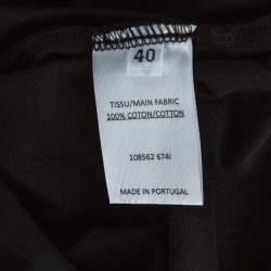 Balmain Grey Tie Dye Cotton Logo Print Sleeveless T Shirt M