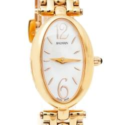 Balmain Mother Of Pearl Rose Gold Tone Stainless Steel B3259.3384 Women's Wristwatch 19 mm