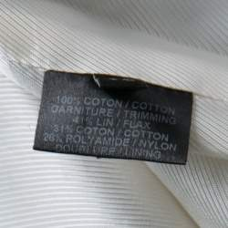 Barbara Bui Khaki Cotton Satin Trim Tailored Blazer S