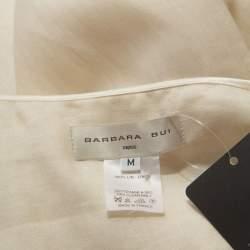 Barbara Bui Cream Linen Slit Detail Button Front Tunic M