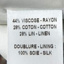 Barbara Bui Pale Grey Linen Blend Pant Suit S