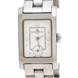 Baume & Mercier White Stainless Steel Hampton MV045139 Women's Wristwatch 20MM