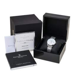 Bernhard H. Mayer Mother Of Pearl Stainless Steel Diamond Muses Women's Wristwatch 36 mm