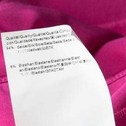 Boss by Hugo Boss Pink Silk Satin Varana Maxi Skirt S