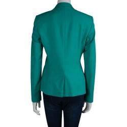 Boss By Hugo Boss Turquoise Wool Jaelle Blazer S