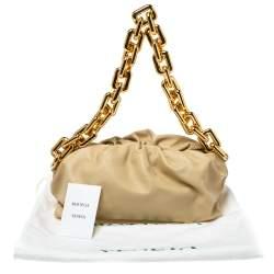 Bottega Veneta Beige Leather The Chain Pouch Bag