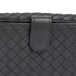 Bottega Veneta Grey Intrecciato Leather Compact Wallet
