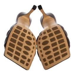 Bottega Veneta Brown Leather Padded Slide Sandals Size 37