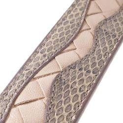 Bottega Veneta Pink/Light Pink Intrecciato Leather Belt