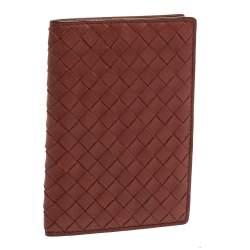 Bottega Veneta Copper Intrecciato Leather Passport Holder