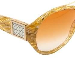 Bottega Veneta Honey Intrecciato / Orange Gradient BV 89/S Aviator Sunglasses