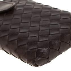 Bottega Veneta Brown Intrecciato Leather Phone Case
