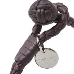 سوار بوتيغا فينيتا حبل مزدوج جلد أنترشياتو بنفسجي مقاس صغير (سمول)