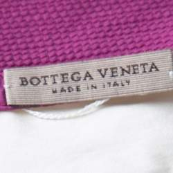 Bottega Veneta Cream and Purple One Shoulder Tunic Top M