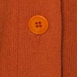 Bottega Veneta Brick Orange Cashmere Mid Length Cardigan M