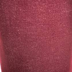 Bottega Veneta Burgundy Cashmere Pencil Skirt S