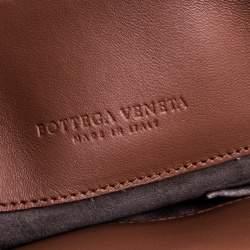 Bottega Veneta Brown Intrecciato Leather Olimpia Shoulder Bag