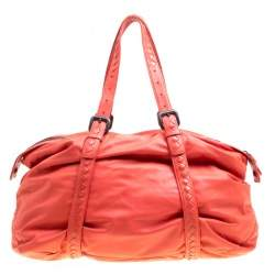 Bottega Veneta Magma Plume Leather Duffle Bag