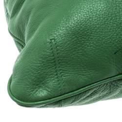 Bottega Veneta Green Leather Braided Handle Hobo