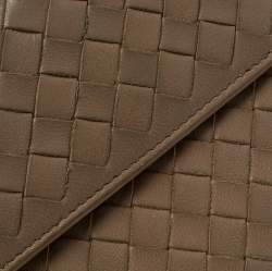 Bottega Veneta Light Brown Intrecciato Leather Wallet