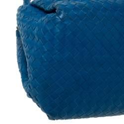 Bottega Veneta Blue Intrecciato Leather Tote