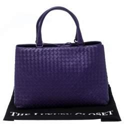 Bottega Veneta Purple Intrecciato Leather Tote