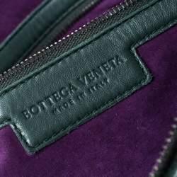Bottega Veneta Dark Green Bubble Quilted Leather Zip Satchel