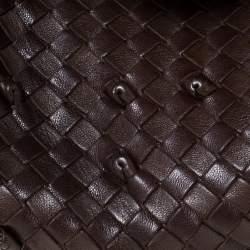 Bottega Veneta Brown Intrecciato Leather Shoulder Bag