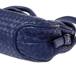 Bottega Veneta Dark Purple Leather Rialto Shoulder Bag