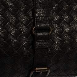 Bottega Veneta Black Intreciatto Leather Clutch