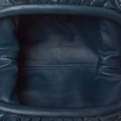 Bottega Veneta Dark Blue Intrecciato Leather Mini The Pouch Shoulder Bag