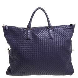 Bottega Veneta Purple Intrecciato Nappa Leather Maxi Convertible Tote