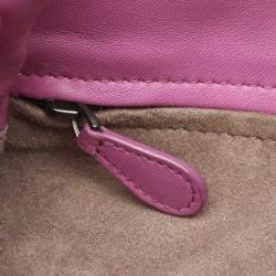 Bottega Veneta Pink Intrecciato Leather Satchel